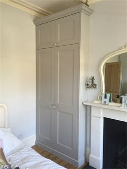 fully fitted period style wardrobe finished in satin