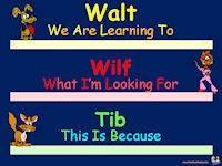Walt (We Are Learning To...) Wilf (What I Am Looking For...)  Tib (This is Because...) templates
