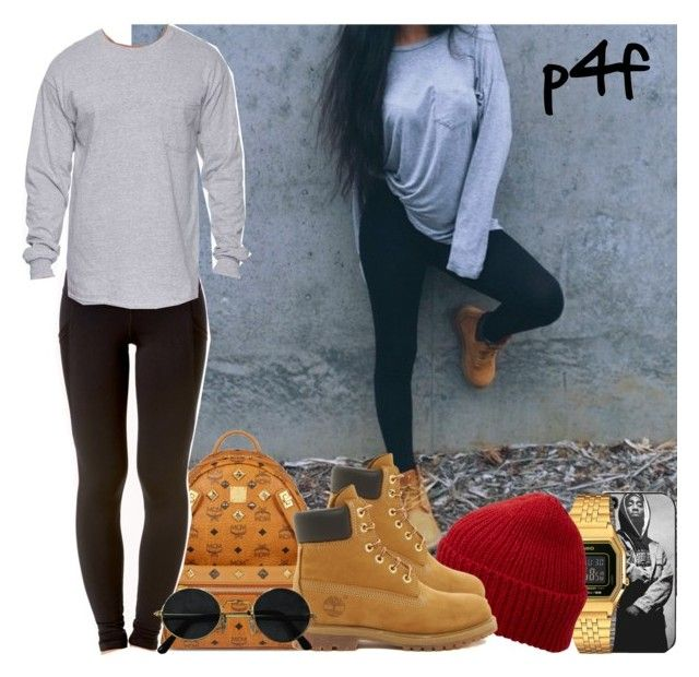 """Passion 4Fashion: Baggy Shirt and Leggings"" by shygurl1 ❤ liked on Polyvore featuring Casio, Eugenia Kim, Timberland, MCM, Forever 21, Gildan, women's clothing, women, female and woman"