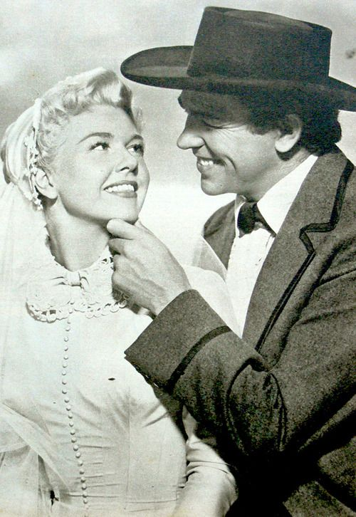Calamity and wild Bill Hickhock, Doris Day and Howard Keel. If you haven't seen Calamity Jane, watch! it's an adorable movie, one of my very favorites.
