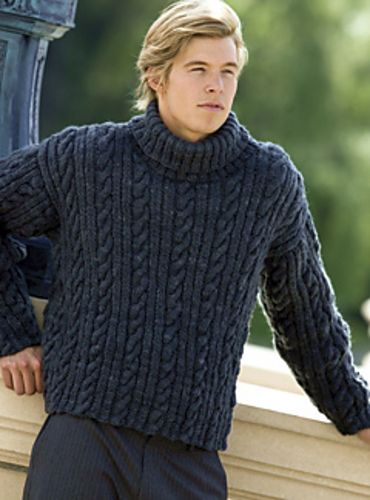 Ravelry: Cable Dude pattern by Kathy Cheifetz, Knitter's Magazine 84, Fall 2006, Manos del Uruguay Wool Clasica