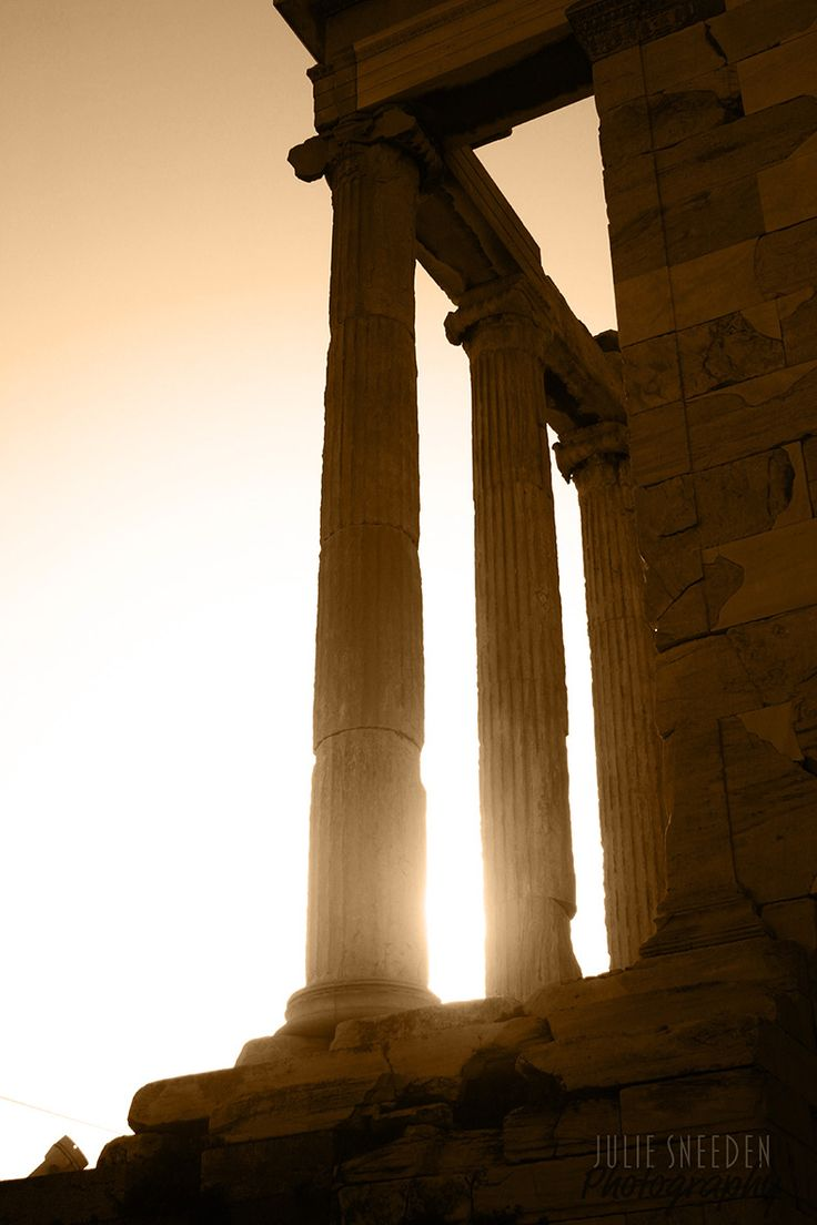 Sun setting on the Parthenon in Athens, Greece - Photo by Julie Sneeden