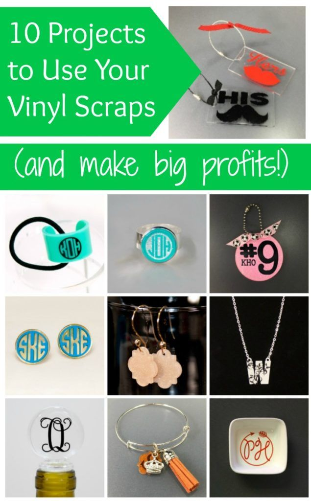 10 Ways to Use Vinyl Scraps for Big Profits by cuttingforbusiness.com