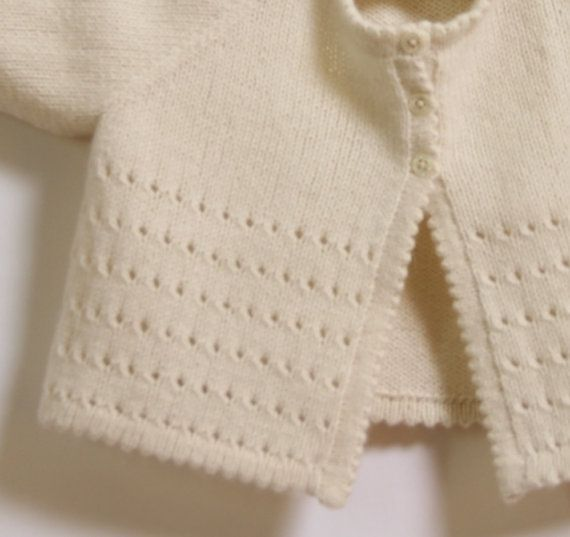 Baby Cardigan / Knitting Pattern Instructions in English / PDF Instant Download…