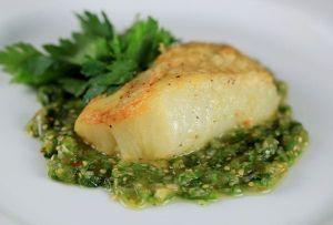 Cod with Salsa Verde - Norwegian Food - Norwegian Food Recipes