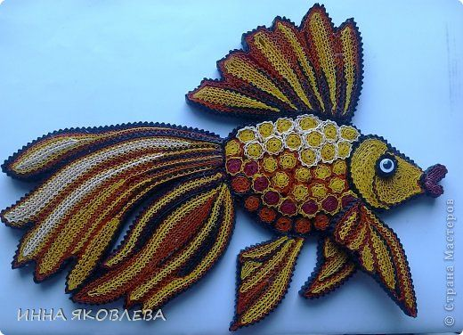 35 best images about quilling fish beach ocean on for Big quilling designs