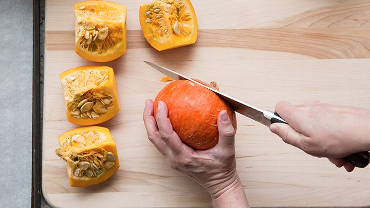 """Roasting Pumpkin Seeds - Betty Crocker's pictures show using a """"Cooking Pumpkin"""", but they say you can also use the """"Carving Pumpkin"""".  There are several flavor combinations & some of the comments list spices they use too."""