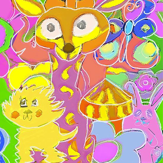 Animal Forest Circus Pastel by Art and Soul Mamma