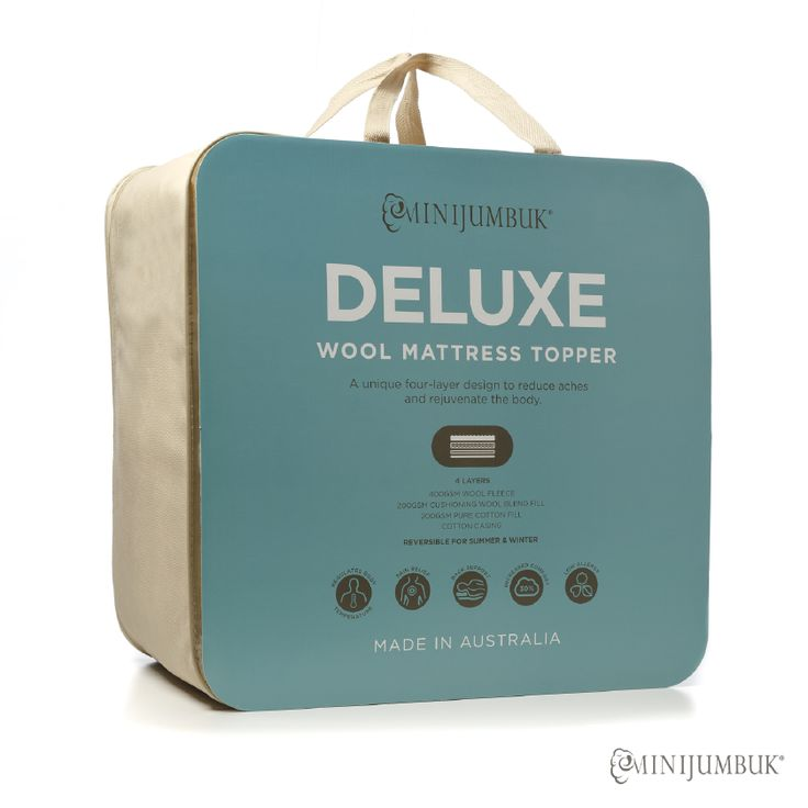 Introducing our new Deluxe Wool Mattress Topper designed to reduce aches and pains, and rejuvenate the body. Made using Airlight Technology, our Deluxe Wool Mattress Topper incorporating 4 unique layers, the wool fleece provides natural warmth and comfort while the inner cushioning layers adds extra support.