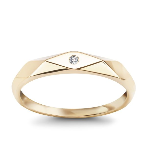 Złoty pierścionek z diamentem 1.295,00