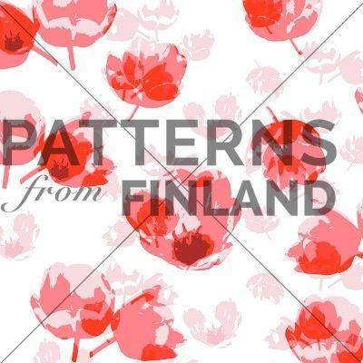 Tulips by Sari Taipale   #patternsfromfinland #saritaipale #pattern #surfacedesign #finnishdesign
