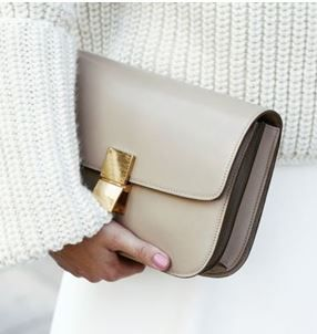 Céline 'Box' bag, beige | pinterest: @Blancazh