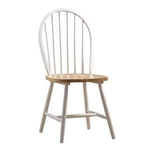 Boraam 31316 Farmhouse Chair, White/Natural Set of 2