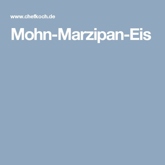 Mohn-Marzipan-Eis