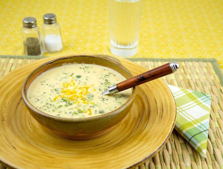 Broccoli Cheddar Soup / @DJ Foodie / DJFoodie.com