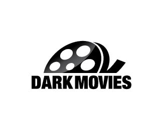 Dark Movies Logo design - Logo design of a movie reel.  Price $260.00