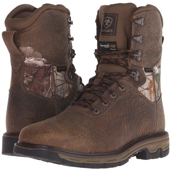 Ariat Conquest 8 H2O Insulated 400G (Ash Brown) Men's Work Boots ($136) ❤ liked on Polyvore featuring men's fashion, men's shoes, men's boots, men's work boots, brown, ariat mens work boots, mens boots, mens brown boots, mens work boots and mens brown work boots
