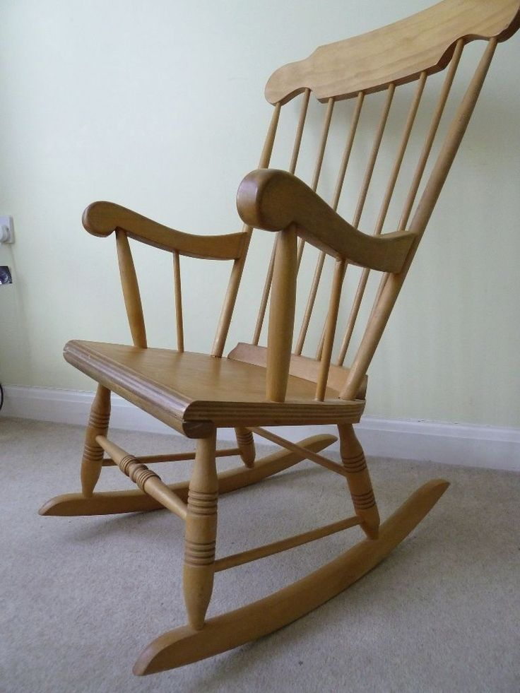 Wooden Rocking Chair On Gumtree Very Comfy With Cushions Simple