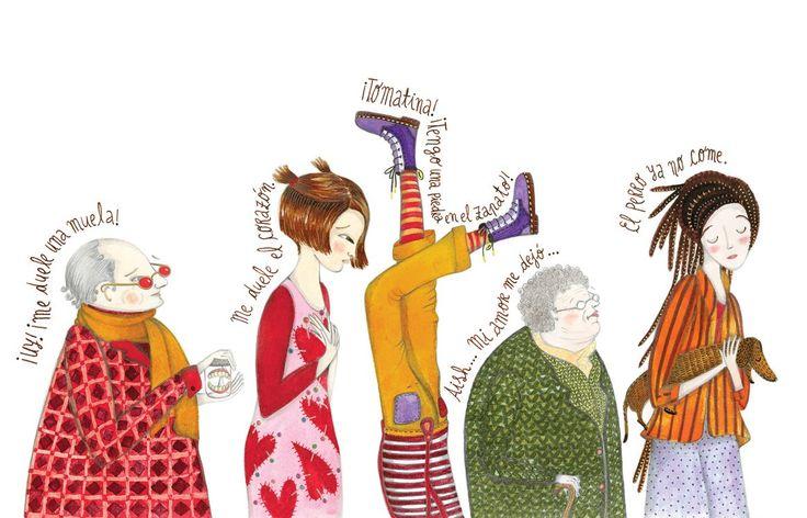 """Ilustración de Helena Melo (Colombia) para """"Tomatina Curatodo"""", de María del Sol Peralta. Bogotá: Alfaguara."""