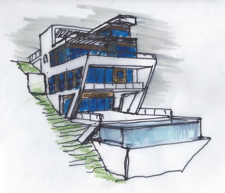 Modern Slope House Design: Upward Slope Design Images On Pinterest