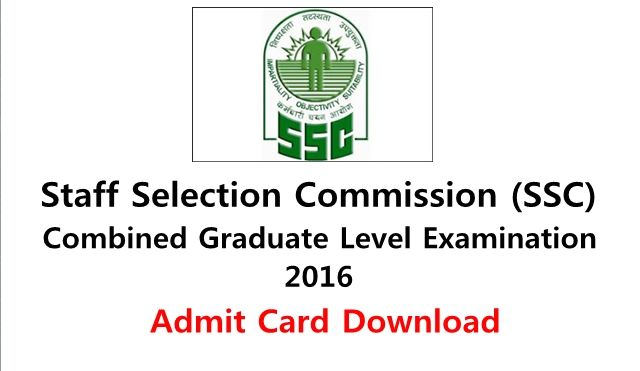 Download SSC CGL Admit Card 2016 – All Region