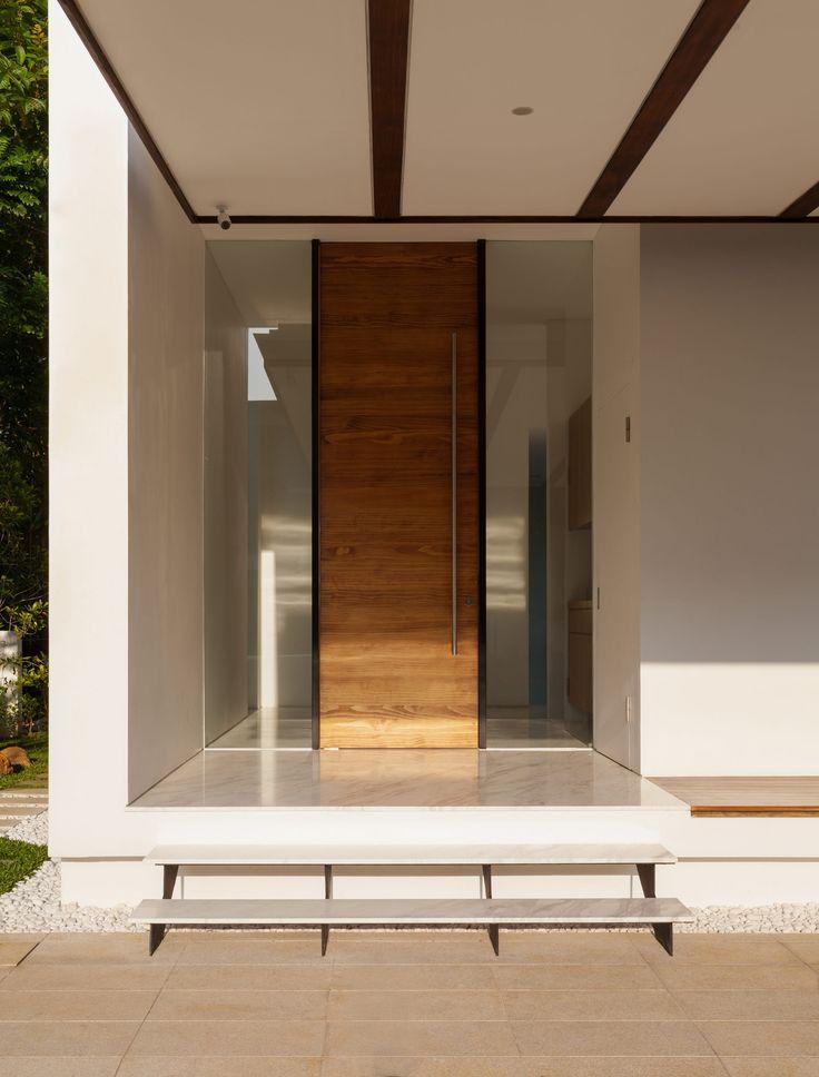 Captivating Wooden Door Design for Your Home : Wooden Door Combine With Glass