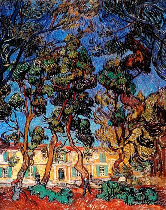 Vincent Van Gogh - Post Impressionism - Saint REMY - Le parc de l'asile - 1889
