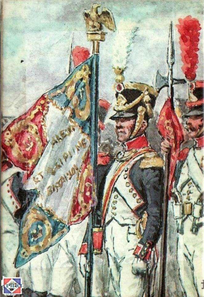 Alfiere di un rgt. di fanteria della linea francese