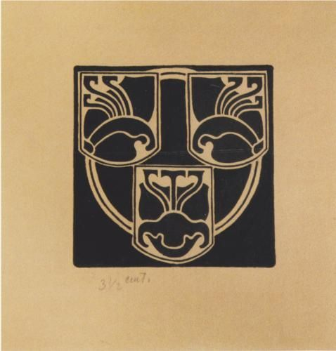 Draft of the emblem for the Association of Austrian Artists Secession, by Koloman Moser