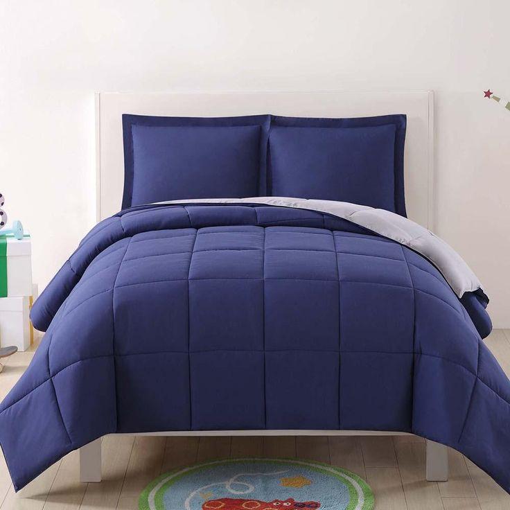 Solid Reversible Kids Comforter Set
