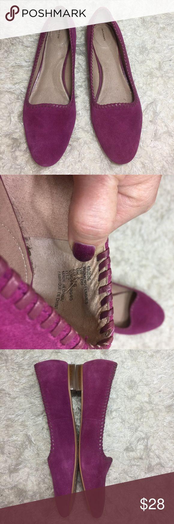 Purple suede flats size 10 lands end Gorgeous purple soft suede Flats. Lands End. Only worn twice. Size 10 B Lands' End Shoes Flats & Loafers