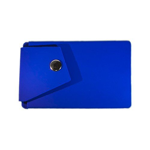 nice Adhesive Card Holder, Phone Card Holder, Cell Phone 3M Adhesive Stick on Wallet with Button Sticky on the Phone/Case back for iPhone,Samsung,LG,Motorola,HTC (Sea Blue)