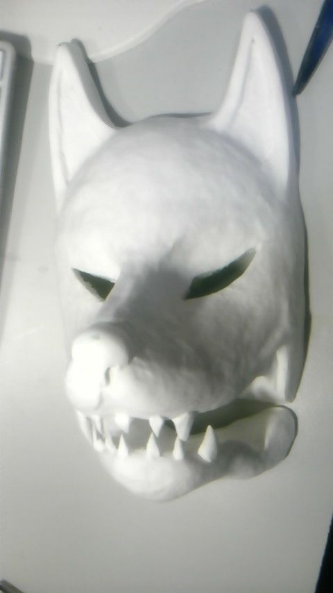 モノノ怪【のっぺらぼう】狐面の作り方 - 節目