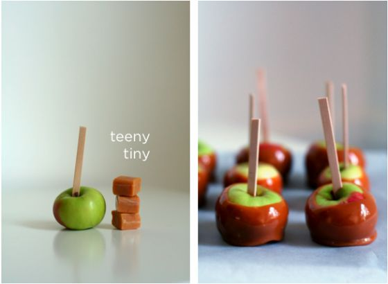 I am melting in love with these mini caramel apples! The full how-to is here!