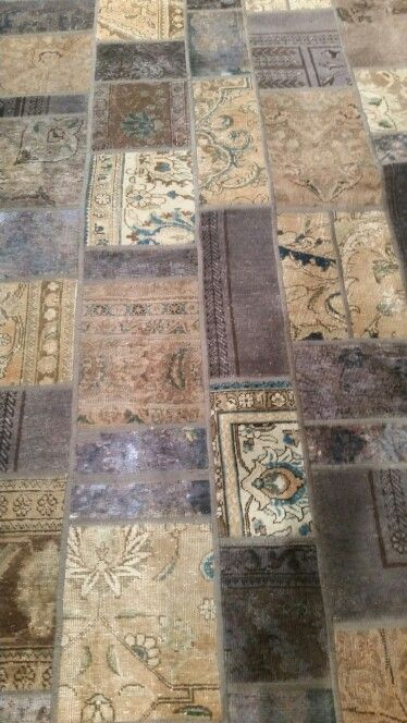 Found a pieced together an blue dyed persian carpet.