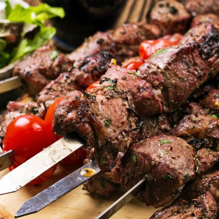 This marinated lamb kebab is cooked on the barbecue.. Marinated Lamb Kebab Recipe from Grandmothers Kitchen.