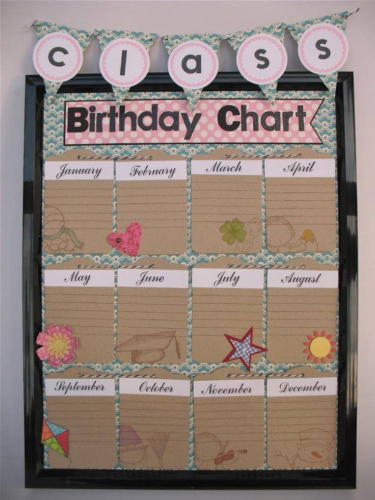 Birthday Calendar In Kindergarten : Best ideas about birthday calendar classroom on