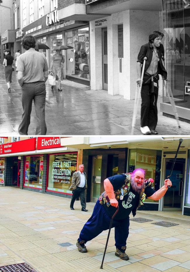 Photographer Tracks Down People He Snapped In His Hometown Almost 40 Years Ago To Recreate The Remarkable Images
