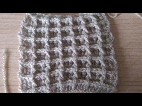 Punto Waffel all'uncinetto - How to crochet - YouTube