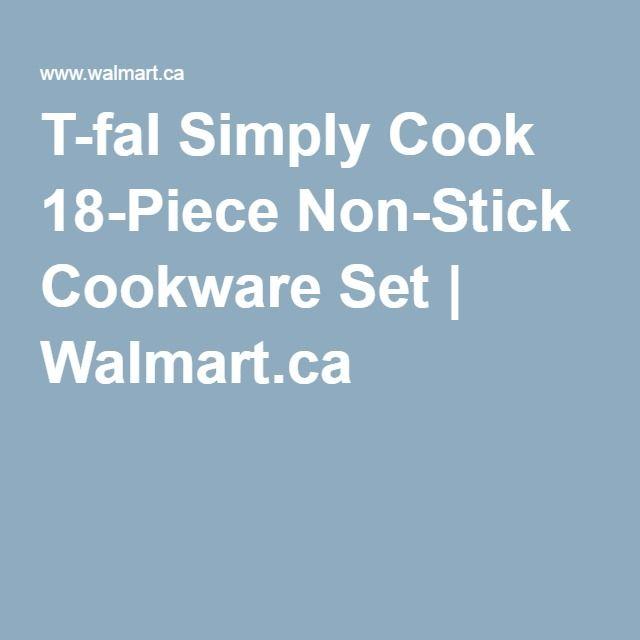 T-fal Simply Cook 18-Piece Non-Stick Cookware Set | Walmart.ca