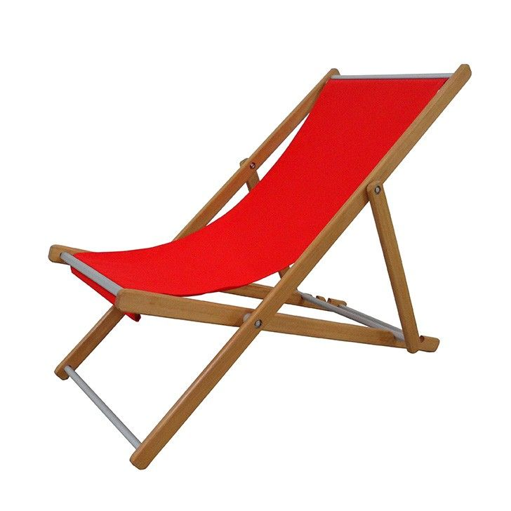 HOUSE BRAND | Elin Deck Chair in Red - Furniture - 5rooms.com