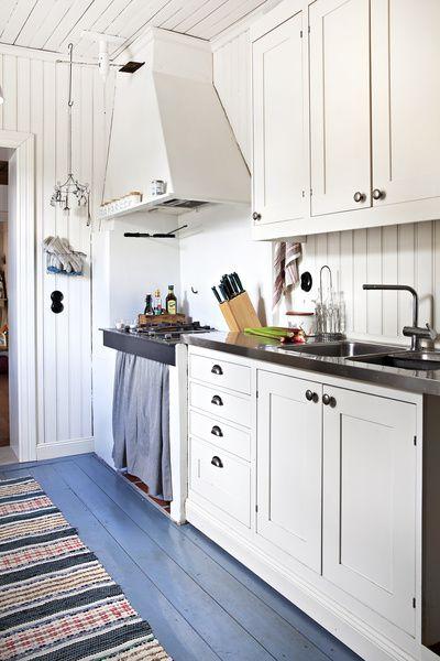 keittiö,lattia,maalaus,puulattia,unelmien talo ja koti