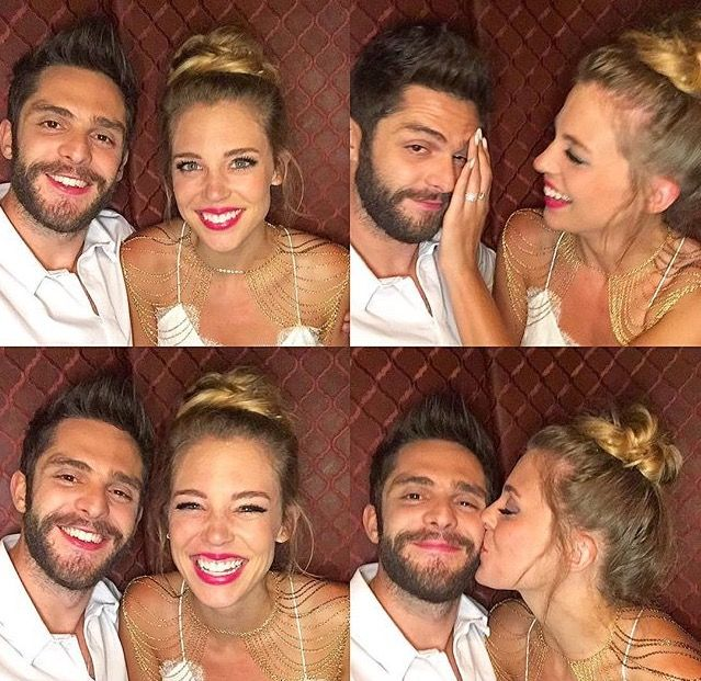 Thomas Rhett and his wife Lauren are relationship goals<3