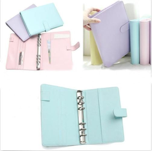 Style: Ring Binder / Loose Leaf Designed. Color: Blue, Pink, Purple, Green. Open length: 37cm. The color may have different as the difference display, pls understand. Size: A5 19x23.5cm. A6 13x19cm. ♥Soft synthetic leather Cover. | eBay!
