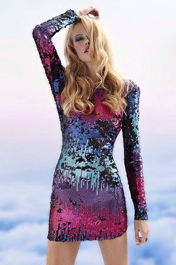 Multicolored Sequence Dress