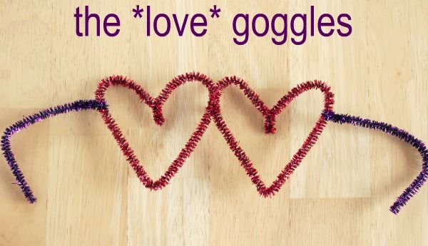 Pipe Cleaner Heart Shaped Glasses - easy & cute