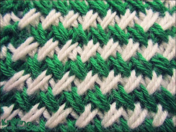 Two-color Woven Plait stitch
