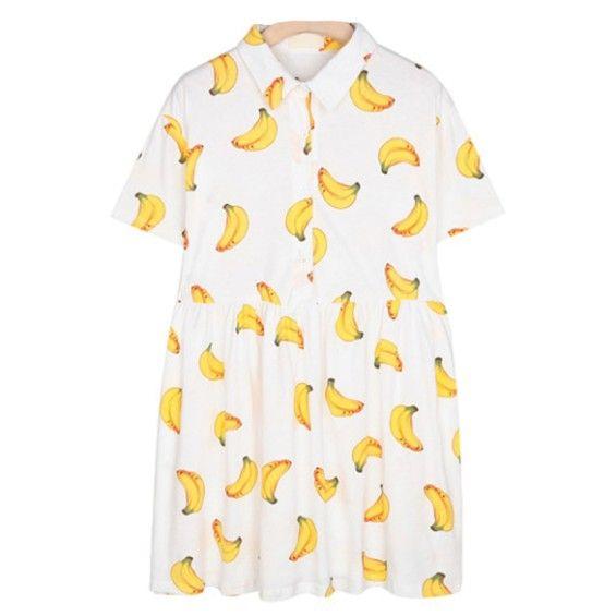 Tumblr Inspired Banana Dress