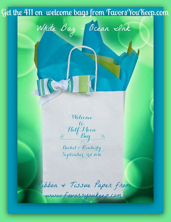 25 Personalized Wedding Welcome Bags Wedding by ShopFavorsYouKeep