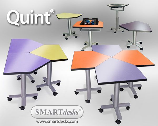 A variety of classroom set-up solutions with this furniture. Quint Collaboration Conference Tables